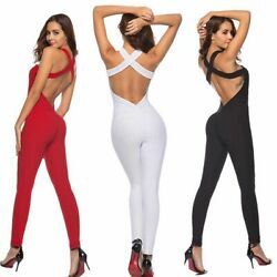 Women Sportswear Tracksuit Workout Clothe Slim Fitness Yoga Top Leggings Set New $30.59