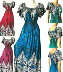 PLUS SIZE Women Long Maxi Summer Beach Hawaiian Boho Evening Party Sundress Gown $16.99