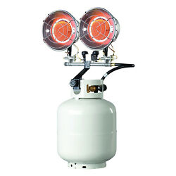 Mr. Heater 30000 BTU Stainless Steel Propane Gas Double Tank Top Heater (Used) $72.25