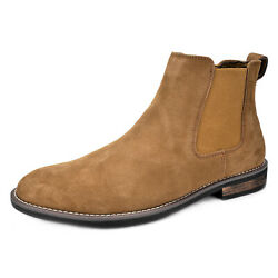 Men#x27;s Ankle Boots Dress Suede Leather Casual Slip on Chelsea Comfort Boot US $35.69