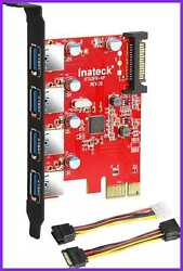 Inateck PCI E To USB 3.1 Express Card Including Type A amp; C Ports Gen 2 Superspee $15.96
