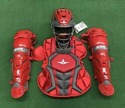 All Star System 7 Axis Youth 10-12 Catchers Gear Set - Red $319.95
