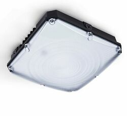 Hyperikon LED Canopy Light Outdoor Commercial Light Fixture Black 5000K UL