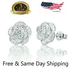 Women Fashion 925 Sterling Silver Crystal Ear Stud Earrings $4.59