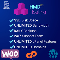1 Year Unlimited Cloud Web Hosting cPanel with Softaculous support $5.99
