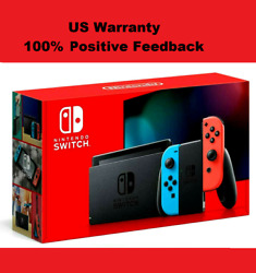 Brand New 2020 Nintendo Switch 32GB Game Console with Two Neon BlueRed Joy-Con $388.75