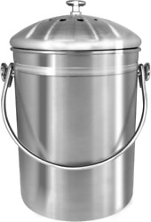 Utopia Kitchen Stainless Steel Compost Bin for Kitchen Countertop 1.3 Gallon $24.22