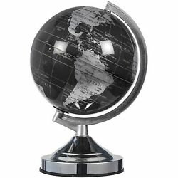 Small World Globe with Lightweight Stand for Home and Desk Decor Black 8 in $18.99