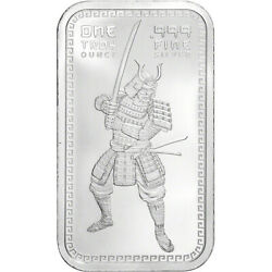 1 oz. Golden State Mint Silver Bar Samarai .999 Fine $37.68