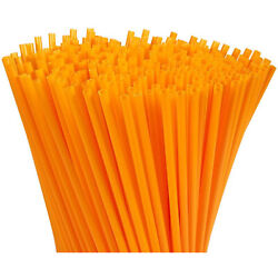 300 Pack Plastic Orange Disposable Party Drinking Straws Extra Long Size 10quot; $7.49