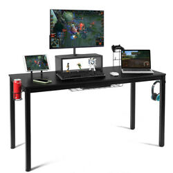 55 inch Gaming Desk Racing Style Computer Desk with Cup Holder & Headphone Hook $179.99