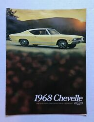 1968 CHEVELLE BROCHURE QUICK SIZE PERFORMER FROM CHEVY NOS OEM EXCELLENT $16.00