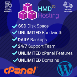 Professional Cloud Wordpress Hosting Fast SSD cPanel with Softaculous for 1 Year $7.99