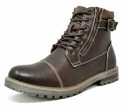 Men#x27;s Winter Motorcycle Work Lace Up Boots Combat Oxford Shoes Size 6.5 15 US $32.55