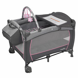 Evenflo Portable 4 in 1 Safe BabySuite DLX Home Infant Playard Poppy Open Box $52.99