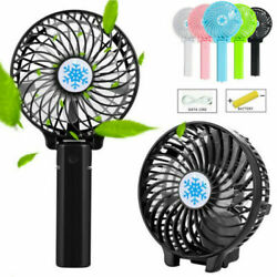Rechargeable USB Fan Air Cooler Mini Operated Hand Held Protable Fan W Battery $9.29