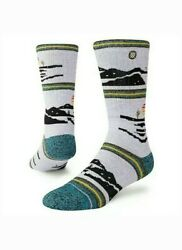 STANCE Mens Four Corners Outdoor Merino Wool Blend Quick Dry Crew Socks Size Med $18.99
