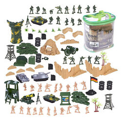 100 Piece Military Figures amp; Accessories Toy Army Soldiers Two Flag attlefield $14.99