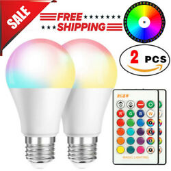 2 Pcs RGB RGBW LED Bulb Light 16 Color Changing E27 Lamp + IR Remote Controller $8.49