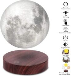 Levitating Moon LampFloating and Spinning in Air Freely with Luxury Wooden Base $103.99