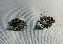 Harley Davidson Women#x27;s Bar amp; Shield Post Earrings $27.99