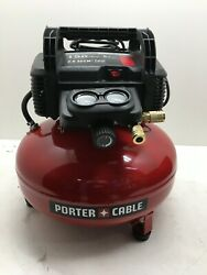 Porter Cable C2002 150 PSI 6 Gallon Oil Free Pancake Air Compressor LN $94.99