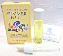 Crabtree & Evelyn SUMMER HILL Environmental Oil w/ Dropper .25 oz, New in Box $79.99