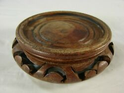 Vintage Chinese Wooden Base Stand For Porcelain and other Antiques B4 $12.00
