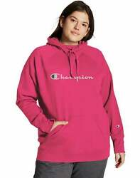 Champion Women#x27;s Athletics Plus Powerblend Hoodie $27.90