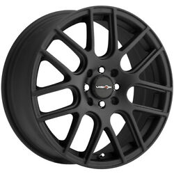 4-Vision 426 Cross 17x7.5 5x112 +38mm Matte Black Wheels Rims 17