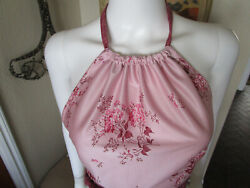 VINTAGE 70'S HALTER TOP PINK FLORAL SPRAY PRINT COUNTRY GIRL SEXY FITTED SMALL  $35.00