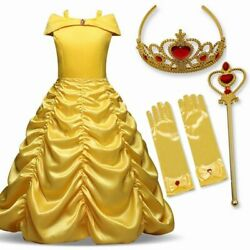Belle Princess Girls Dress Wedding Party Dresses For Girls Ball Gown $24.16
