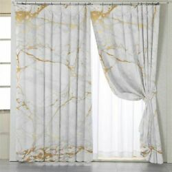 Blackout Curtains Marble Patterned Window Treatments Home Modern Decorations New $85.99
