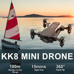 KK8 Mini Drone with HD Camera 720P 1080P Headless Mode 6 Axis Gyro RC Quadcopter $23.98