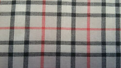 Light & Saft 100% Cotton Lawn Plaid fabric Taupe multi-color printed by the yard $5.90