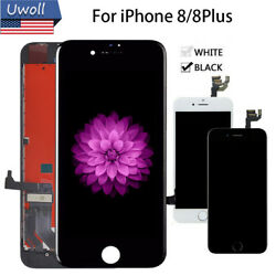 For iPhone 8 8 Plus Black White Replacement LCD Touch Screen Digitizer Display $25.45