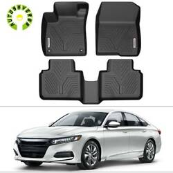 All Weather Floor Mats Liners for 2018 2021 Honda Accord Sedan Black Protector $93.09