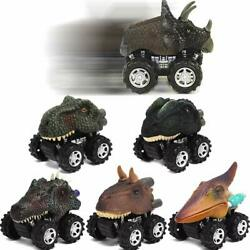 6PCS Children Toy Dinosaur Model Mini Toy Car Back Of The Car Play with Kids Yun $17.25