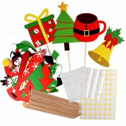 Christmas Photgraphy Photo Booth Props with Sticks 39 Piece Lot $7.86