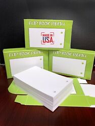 Blank Flip Book Paper with holes Drawing Tracing 500 Sheets Animation USA MADE $16.99