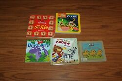 5 Count Number Board Books Lot National Geographic Bagels Nature Dinosaur $5.50