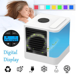 Portable Cooling Air Conditioner Small Desktop Cooler Fan USB plug in LED Lights $39.95