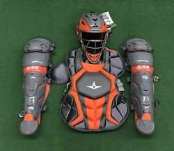 All Star System 7 Axis Youth 10-12 Catchers Gear Set - Graphite Orange $349.95