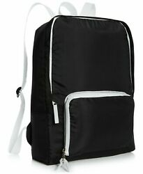 MACY#x27;S black collapsible lightweight travel hiking bag folding backpack NEW $9.50