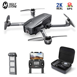 Holy Stone HS720 Foldable Drone with HD Camera 2K Quadcopter Brushless GPS Case $189.99