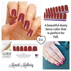 ❤️NEW❤️Color Street Nail Polish Strips~Munich Mulberry~Dusty Berry Solid ❤️❤️ $11.00