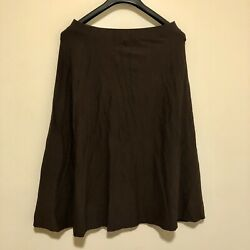 Eileen Fisher Small Elastic Waist Casual Stretch Brown Skirt W $18.99