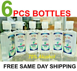 6 Pieces Hand Sanitizer Gel 70% Alcohol With Gel  Travel Size  2.02 Oz $9.89