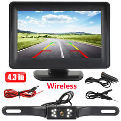 Wireless Car Backup Camera Rear View HD Parking System Night Vision + 5
