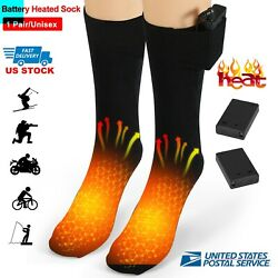 Electric Heated Socks Rechargeable Battery 4.5V Foot Winter Warm Skiing Hunting $16.89